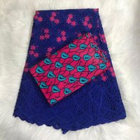 African Swiss Voile Ankara Combo Soft Swiss Cotton Lace fabr...