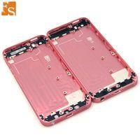 Metal Tam Kavara Arka Kapak Pil Kapağı Ile Yan Düğmeli iPhone 5 5 S SE Ücretsiz DHL