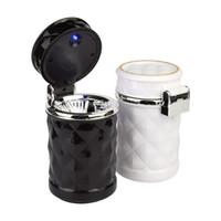 Accessoires de voiture de luxe Portable LED Light Cendrier De Voiture Universel Porte-Cylindre De Cigarette Car Styling Mini style