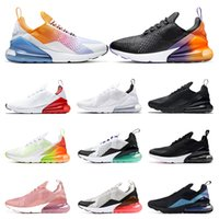 2020 running shoes for men womens Black Gradient Rainbow Vol...