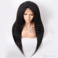 Kinky Straight Natural Color Lace Frontal Hair Wigs VMAE Vir...