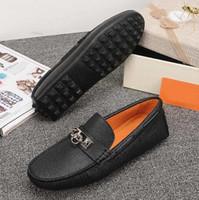 Lusso Nuova H Mens Mocassini Parigi Vera Pelle Gommino Slip On camminata di cerimonia nuziale Business Drive Dress classici calza il formato 38-44
