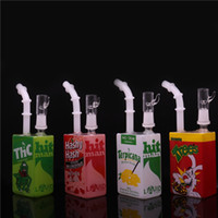 Wholesale hitman Mini Liquid glass rigs Glass Cereal Box Bon...