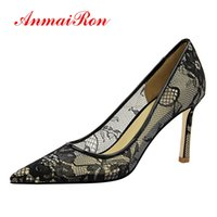 ANMAIRON 2019 New Arrival Women Super High Fashion Pumps Mes...