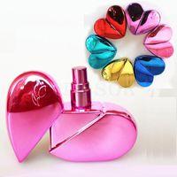 25ml a forma di cuore bottiglie di profumo di vetro con spruzzo di profumo riutilizzabile vuoto atomizzatore per le donne 6COLORS dc793