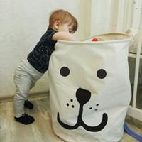 Cesta Estendal de cesta do brinquedo Caixa de armazenamento Super Grande lavagem Saco de algodão sujos Clothes Big Basket Organizador Bin Handle