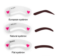 3pcs set Eyebrow Stencils 3types Reusable Eyebrow Drawing Gu...