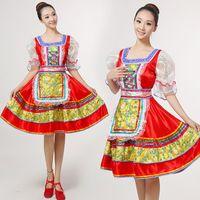Vêtements ethniques classiques Robe de costume de danse russe russe traditionnel Européenne Princesse Stage Robes Performance 113001