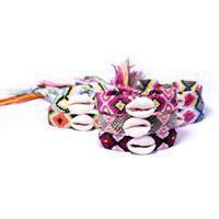 Бифштексы Плетеные Shell браслет Тканые браслеты с Shell Мужчины Женщины многоцветный Браслеты Summer Holiday Beach Jewelry GGA2677