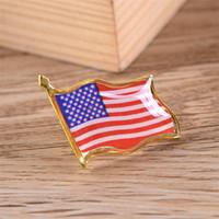 크리 에이 티브 미국 플래그 옷깃 핀 작은 에나멜 미국 미국인 깃발 배지 남성 넥타이 모자 배낭 핀 재킷