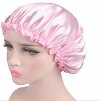 New 58cm Fashion Women Satin Night Sleep Cap Shower Caps Hai...