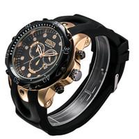 أعلى بيع السويسرية الكوارتز ساعة اليد INVICTA الفولاذ المقاوم للصدأ وارتفع الذهب رجال الرياضة العسكرية الجيش DZ التقويم الساعات حزام سيليكون