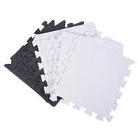 10 Piece Eva Foam Puzzle Exercise Mat Interlocking Floor Tiles -- White and Black