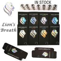 Lions respiratez des cartouches cartouches Vape jetables Céramique 510 Fil 0.8ml / 1.0ml avec des cartouches de presse rondes vides M6T Dank Emballage