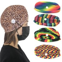 Face Mask Holder Beanies With Buttons Wearing Protect Ears W...