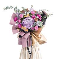Recentemente 20Pcs / Lot Double Side Wrapping Flower Carta impermeabile carta da imballaggio floreale Confezione regalo XSD88