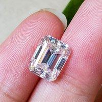 LotusMaple Emerald Kesim 0.2CT - 12CT Gerçek Mozanit Gevşek Taş Rengi D Clarity FL Her biri 0,5CT'ye eşit veya daha fazlasına eşittir