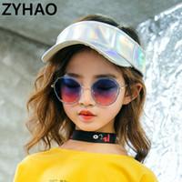 2020 العلامة التجارية طفل انن النظارات الشمسية أزياء الأطفال المعادن جولة الأضلاع النظارات الشمسية للأطفال UV400 حماية للبنات بنين