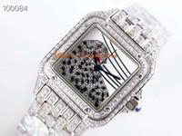 MR Top PANTHERE DE Women watches Swiss Automatic Movement Full 3D Diamond Case & Bracelet Diamond leopard Dial Sapphire Crystal Ladies watch