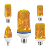 LED Flame Lamp E27 E26 B22 E14 E12 Light Flame Effect Fire Lamps Flicking Emulation 3W 5W 7W DICOR LAMP AC85-265V