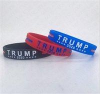 Donald Trump 2020 Silikon Bileklik tutun Amerika Büyük Bileklik Mektupları Baskı Spor Bileklik Amercia Genel Seçim Özel Bilezikler D61810