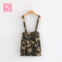 STVY Women' s Belt Waist Suspender Skirt 2019 New Spring...