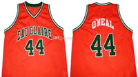 Jermaine O'neal #44 Eau Claire High School Retro Basket Jersey Men's Sterched Custom Any Number Name Jerseys