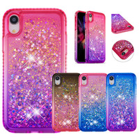 Gradient Diamond Glitter Quicksand TPU Phone Case For iPhone...