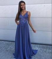 2020 nya eleganta prom klänningar sexiga v nacke chiffon paljetter golv längd speciella tillfälle formella kväll klänningar billiga festklänningar