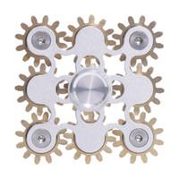 Fidget Spinner Spin 9 ingranaggi cuscinetti cuscinetti linkage figità giocattolo di superficie liscia metallica metallica meccanica del ragazzo del ragazzo fai da te con il pacchetto di lusso Bambini adulti