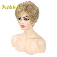 Joy&luck Short Wig Blonde Synthetic Wigs for Women Natural S...