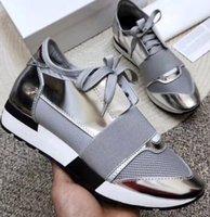 Moda adam kadın klasik rahat ayakkabılar tasarımcı sneaker hakiki deri örgü sivri burun yarışı koşucu ayakkabı açık havada eğitmenler