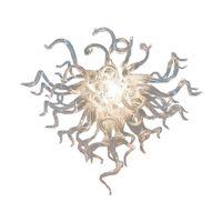 펜던트 램프 꿀 크리스탈 샹들리에 명확한 투명한 라이트 거실 광택 아트 유리 현대 샹들리에 조명 홈 인테리어