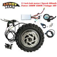 고속 LY 11 인치 허브 모터 키트 48V1000W1500W 전기 오토바이 엔진 BuggyGearless TX 모터 60km/h 전기 키트 지방 타이어