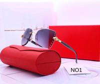 النظارات الشمسية النسائية النظارات الشمسية الصيف للمرأة الأزياء نظارات adumbral 6 لون جودة عالية مع مربع
