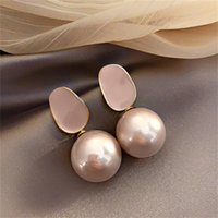 S925 silver needle ladies pearl earrings Hong Kong style new temperament net red personality earrings earrings female silver needle
