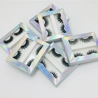 2 Pairs Natural Flase Eyelashes Reusable Mink Hair Thick Eye...
