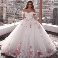 Alças Flores baile vestido de baile frisada Quinceanera renda acima para trás Luxurious plissada Tulle doce 15 vestidos de festa