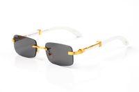 Модные солнцезащитные очки для мужчин Женщины Унисекс 2021 Известные Attitude Кадр Спорт Rimless Вуд Солнцезащитные очки без оправы кадров очки Lunettes Gafas