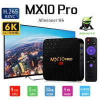 Android 9.0 TV Kutusu MX10 Pro Quad Core 4 GB 32 GB Allwinner H6 64-Bit Akıllı Media Player PK TX6 Q Artı T9