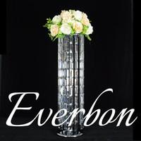 nuovo lampadario di cristallo Style Drapes torta swing sospeso 31,5 pollici stare rotondo del fiore appeso centro di nozze supporto