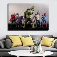 Private Lives Of Marvel Superheroes Hulk Poster HD Canvas Pa...