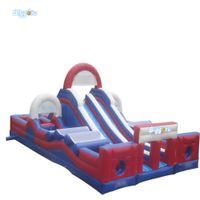 Playground inflável inflável do obstáculo do material de PVC para o jogo