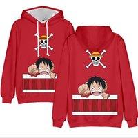 3 à 13 ans Les enfants Hoodie Anime One Piece 3D Print Sweat Hoodies Garçons Filles manches longues à capuche manteau de veste Vêtements pour enfants