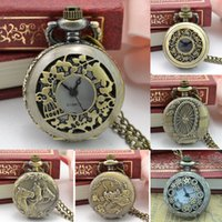 Vintage Steampunk Retro Bronze Design Pocket Watch Quartz Pe...