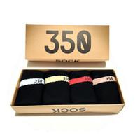 Frühling und Sommer Socken Mode-Sport-beiläufige Herren Damen Socken Unisex Luxus Designer-Socken Freie Größe 4 Paare / Box
