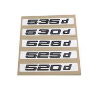 1 مجموعة جديدة ABS 520D 523D 525D 528D 530D 535 غطاء الجذع شعارات الخلفية شارة رسائل سوداء لسيارات BMW 5-Series E60 E61 F10 F11 شعار