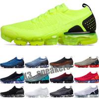 VaporMax Flyknit 2.0 2018 Nouveautés Hommes Femmes classique Outdoor 2.0 Chaussures Run Noir Blanc Sport Shock Jogging Marcher Randonnée chaussures de sport
