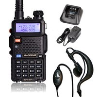 뜨거운 판매 Baofeng UV-5R VHF / UHF 듀얼 밴드 양방향 햄 라디오 트랜시버 워키 토키 블랙
