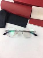 Toptan-Lüks tasarlanan Unisex CT0038SA çerçevesiz tam set ambalaj ile reçeteli gözlük için saf-jant 54-18-145 yuvarlak oval ens gözlük